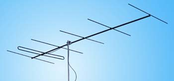 Directional Yagi antenna with folded dipole Y6-4m 70-71 MHz